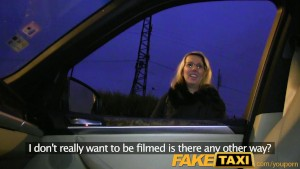 FakeTaxi Blonde gets her kit off in taxi cab sex
