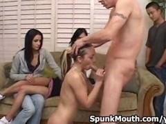 Sexy Little Slut Kelly Skylar Wild Cock Sucking for a Dirty Facial