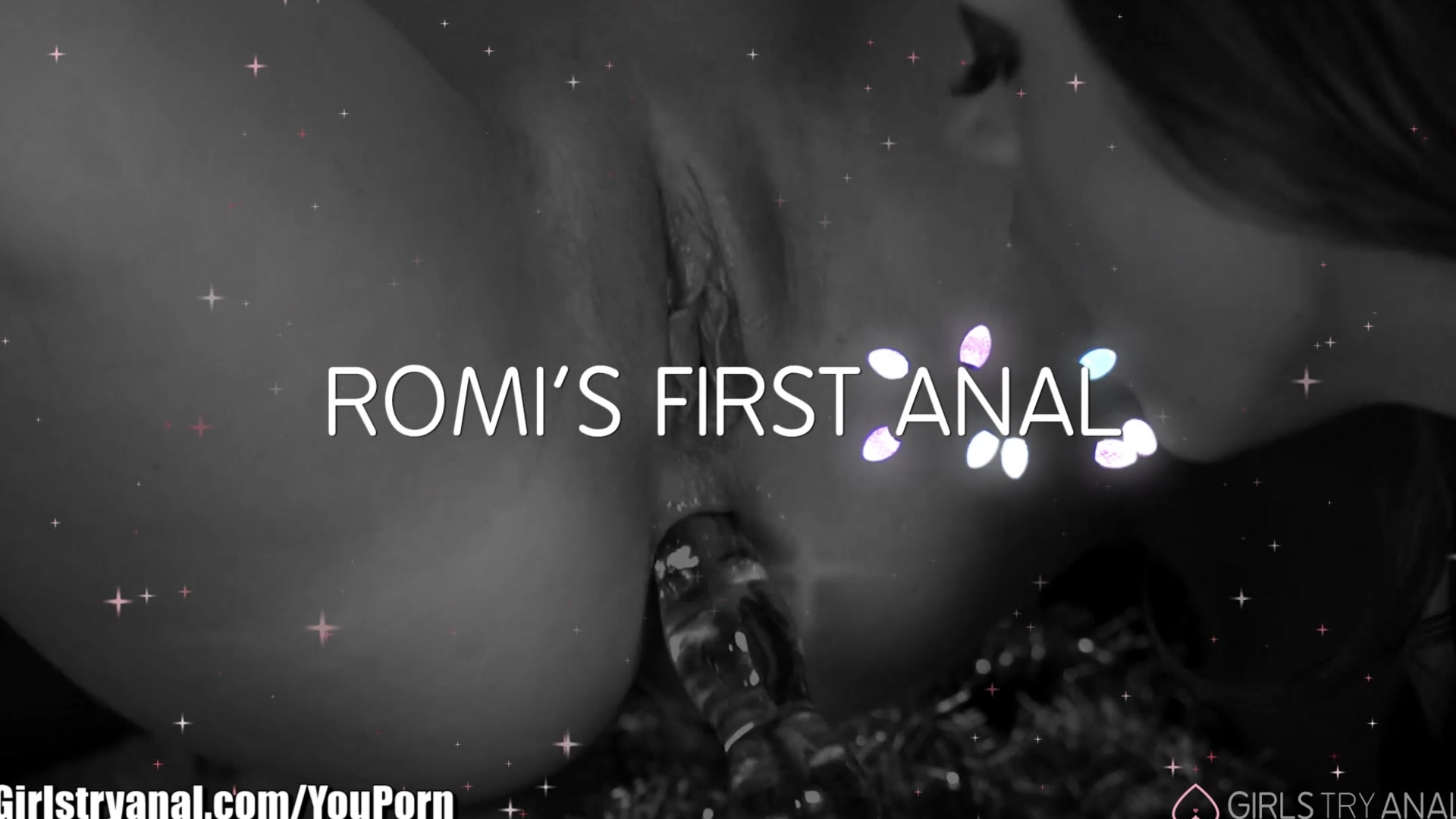 GirlsTryAnal Romi Rains First Lesbian Anal, For the Holidays