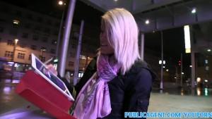 PublicAgent Blonde fucks stranger at home