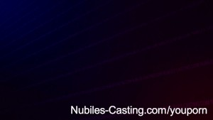 Nubiles Casting - Adorable teen tries hardcore porn