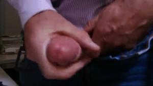 Mein vierundvierzigster Orgasmus - Orgasm 44th - I'm so excited that I get totally wet with my own precum, and I use it as a natural lube to caress my glans