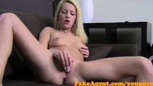 FakeAgent Horny blonde MILF takes big cock up her ass in Office