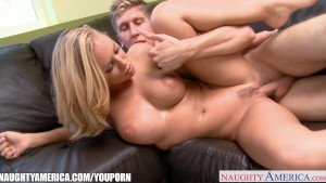 Busty blondie Nicole Aniston ride cock