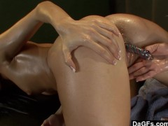 Picture One hot lesbian massage session