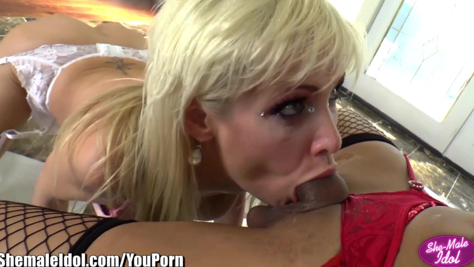 ShemaleIdol Latina Jessy Dubai Anally Fucks Girl