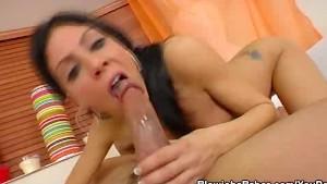 Eva Ellington Gets A Mouthful Of Cock