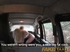 Picture FakeTaxi Hot blonde with sexy lingerie