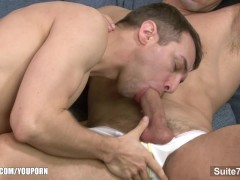 Lusty gays lick and fuck their asses