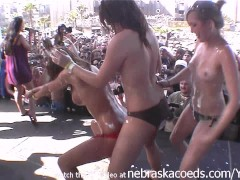 spring break bitches getting down dirty and naked for money