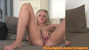 FakeAgent Sexy blonde with amazing Tits gets fucked hard and spunked over
