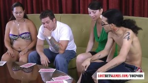 Two guys, and Two girls play highest card wins