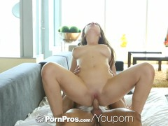 HD PornPros - Huge natural tits Marina Visconti bounces on cock