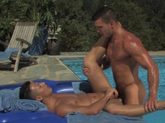 Guy is fucked next to the pool - Falcon