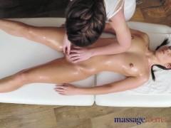Massage Rooms Stunning beautiful lesbians enjoy sensual intense orgasms