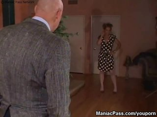 Shaved Milf video: MILF on her knees to take dick
