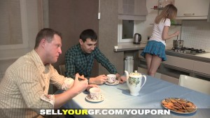 Sell Your GF - Sex dessert on a kitchen table