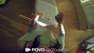 HD POVD - Brunette Rachael Madori spreads her pussy in pov