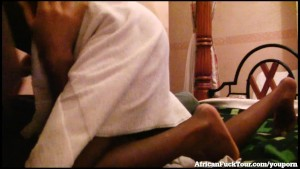 Cute African Girl Makes Sex Tape With White Tourist