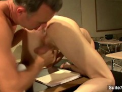 Horny jocks screwing their asses in the classroom
