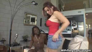 Milf Rachels Strips With Her Black Stud