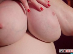 Picture Busty Brunette Plays With Boobs