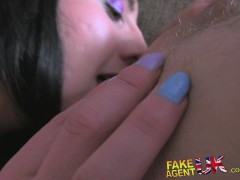 Picture FakeAgentUK Creampie for naughty British nur...