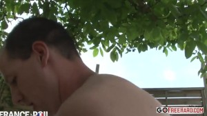 Fat Redhead Fucked Hard In The Garden