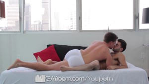 HD GayRoom - Guy sucks and fucks his boyfriend