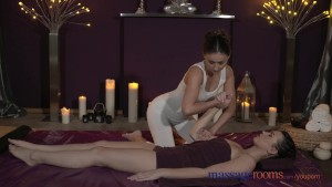 Massage Rooms Young lesbians have intense oral fun before loud orgasms