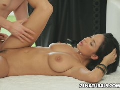 Voluptuous Anissa Kate enjoying the fuck of her life