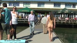 Brunette babe july shows her amazing sexy body in public