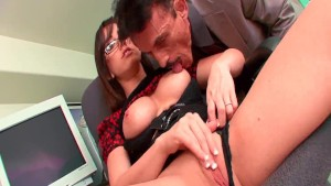 Fantastic secretary gets licked and gives great head