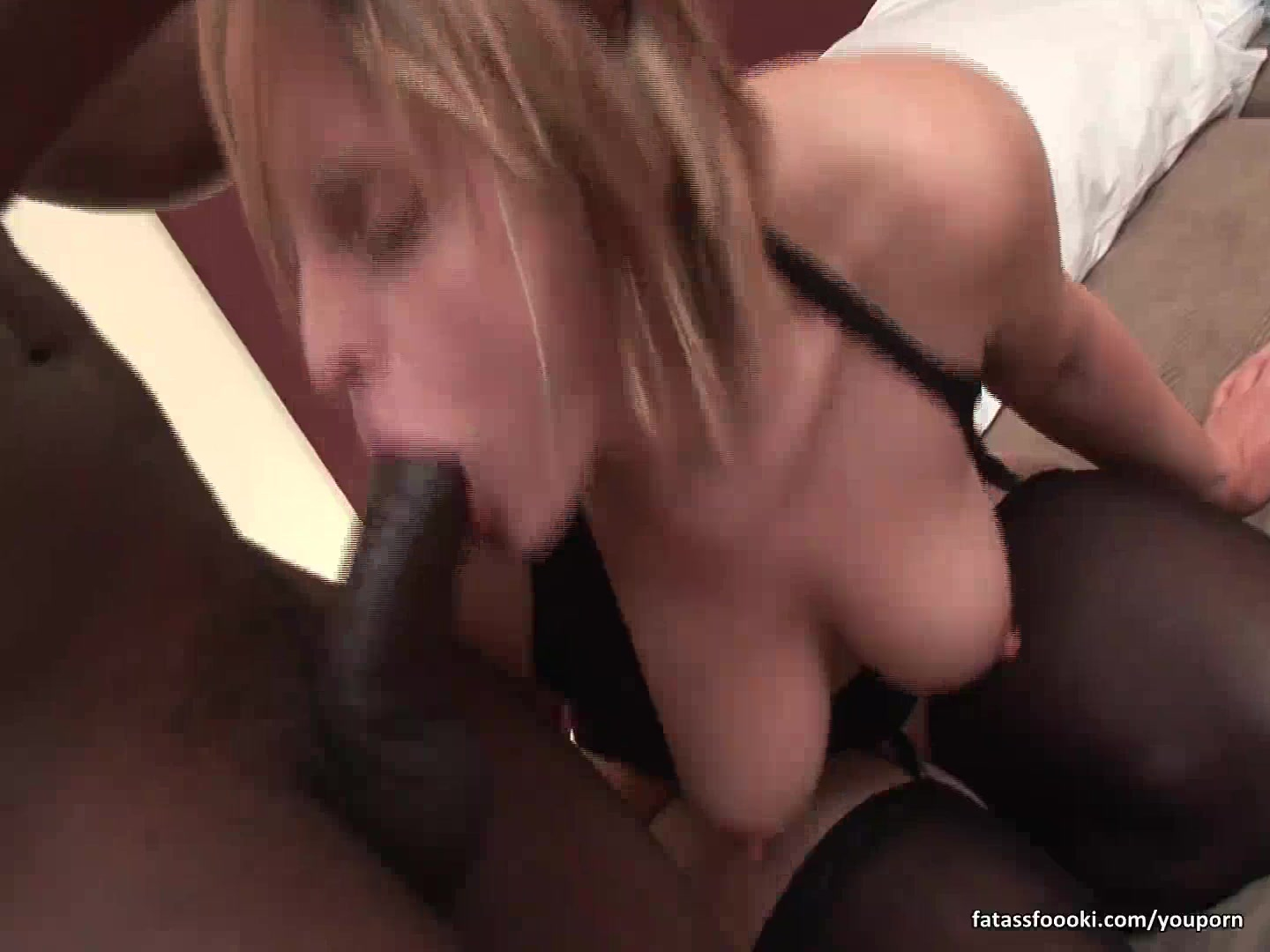 Slutty blonde rides monster bl