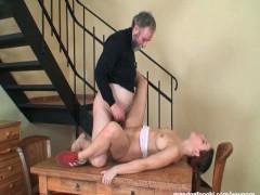 Teen gets banged by grandpa