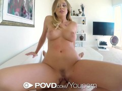 HD POVD - Alexis Adams gets wet with beads in her pussy