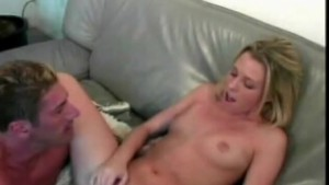blonde gets busy on her couch - Java Productions