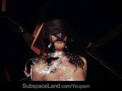 Dolly Diore wrapped in plastic, whipped and put to suck