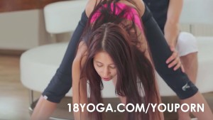 Teen Paula Shy In Yoga Outfit Anal Ass Fucked During Workout Session by BF