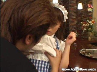Hardcore Asian video: Horny Japanese maid getting slammed