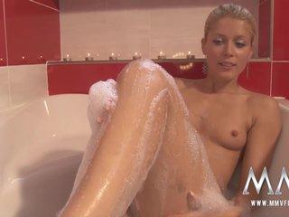 Bathtub Sex Big Cock Big Dick video: MMV FILMS Stunning Blonde Angel fucked in the bathtub