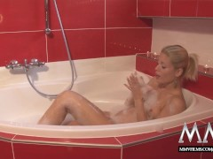 MMV FILMS Stunning Blonde Angel fucked in the bathtub