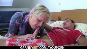 Old granny bitch is picked up and fucked