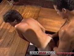 Picture Kitchen Threeway from Vintage Gay Porn SEX L...