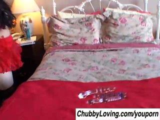 Cum Cute Goth video: Tasty Terina is a cute chubby goth who loves the taste of cum