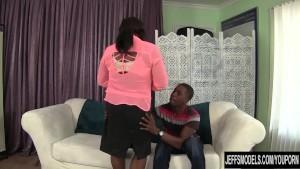 Ebony plumper Sara James gets fucked hard