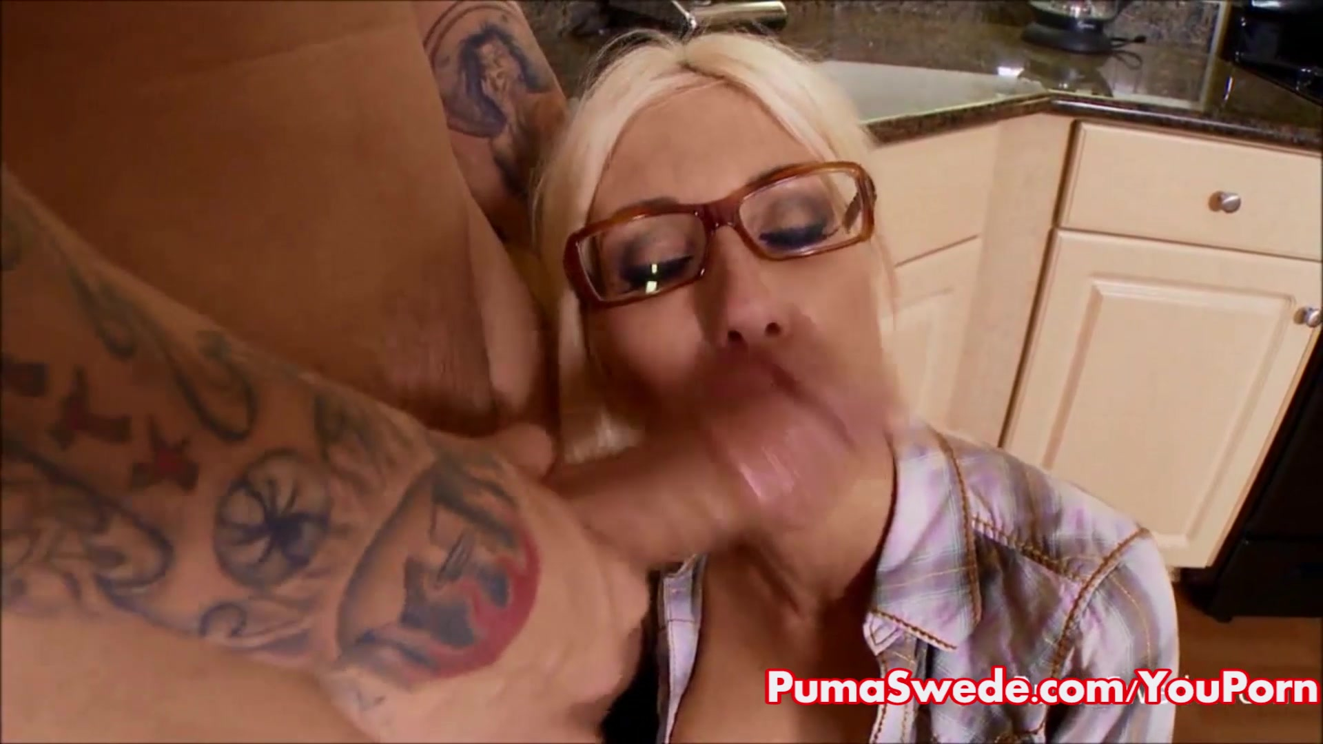 Puma Gets Cum on Her Glasses f