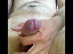 Swiss man is masturbating