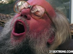 Picture Old man bangs Dominica Fox's tight youn...