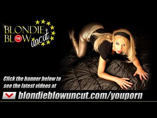 Bukkake Blonde video: Dirty blonde Milf takes spunk loads off big cocks in her slutty mouth